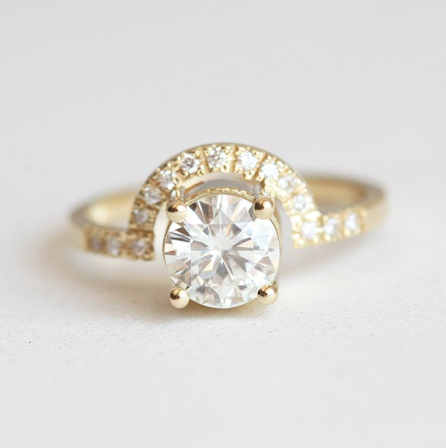 Свадьба - Moissanite Ring, Diamond Wedding Ring, Diamond Engagement Ring, Moissanite Diamond Ring, Moissanite Engagement Ring, Diamond Crown Ring
