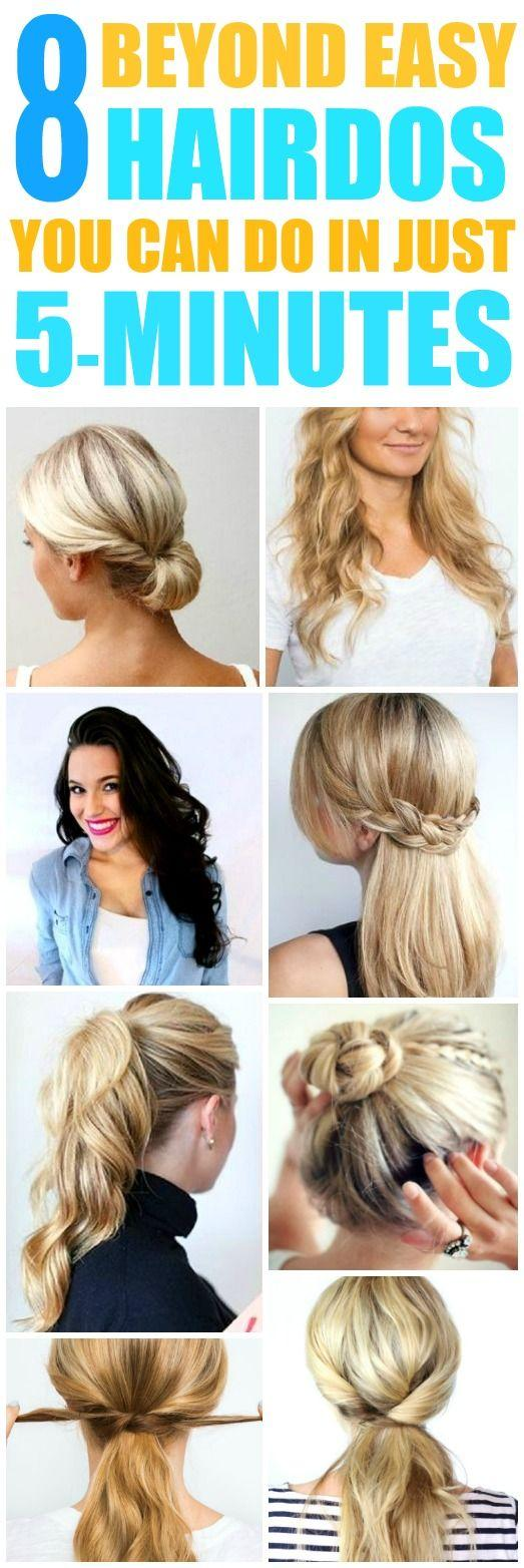 Wedding - 8 Beyond Easy 5 Minute Hairstyles For Those Crazy Busy Mornings