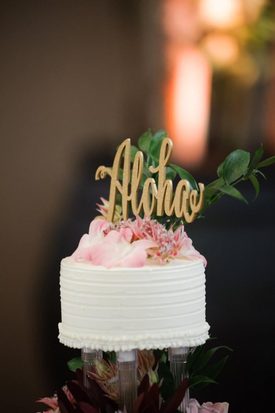 Mariage - Aloha Cake Topper, Cake Topper for Wedding, Wedding Cake Topper, Hawaii Wedding Cake Topper, Hawaii Party, Hawaii Party, Aloha, Hawaii Decor