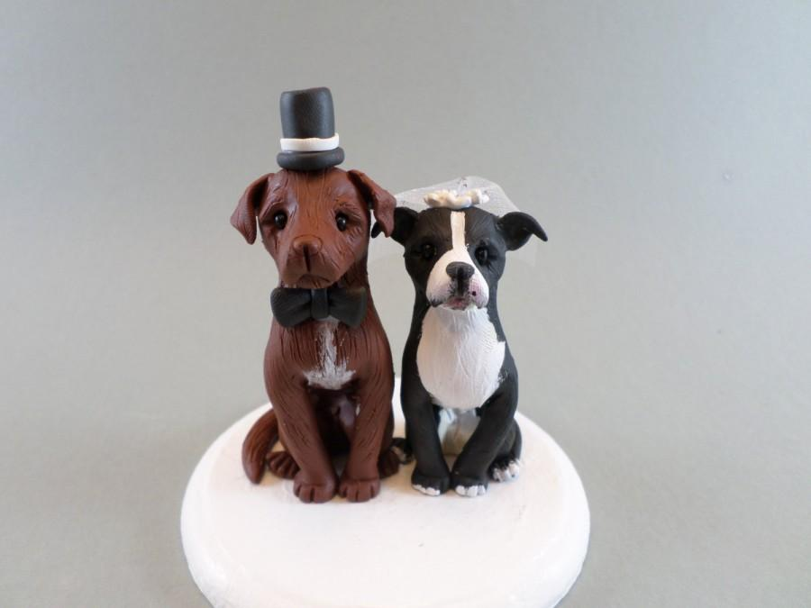Свадьба - Custom Handmade Dog Wedding Cake Topper