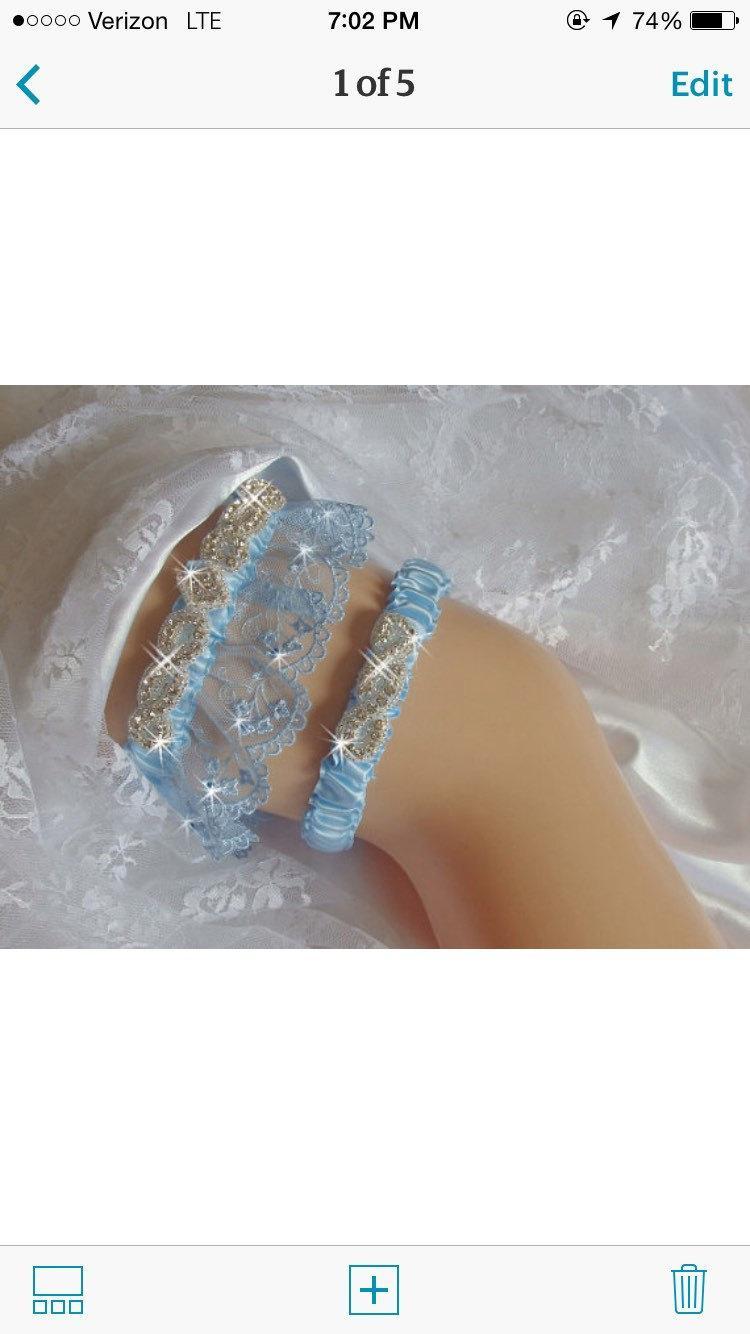 Свадьба - Something Blue Garters Wedding, Wedding Traditions Garter, French Lace Garter Set, Bridal Garter, Wedding Lingerie, Bling Garter, Garder