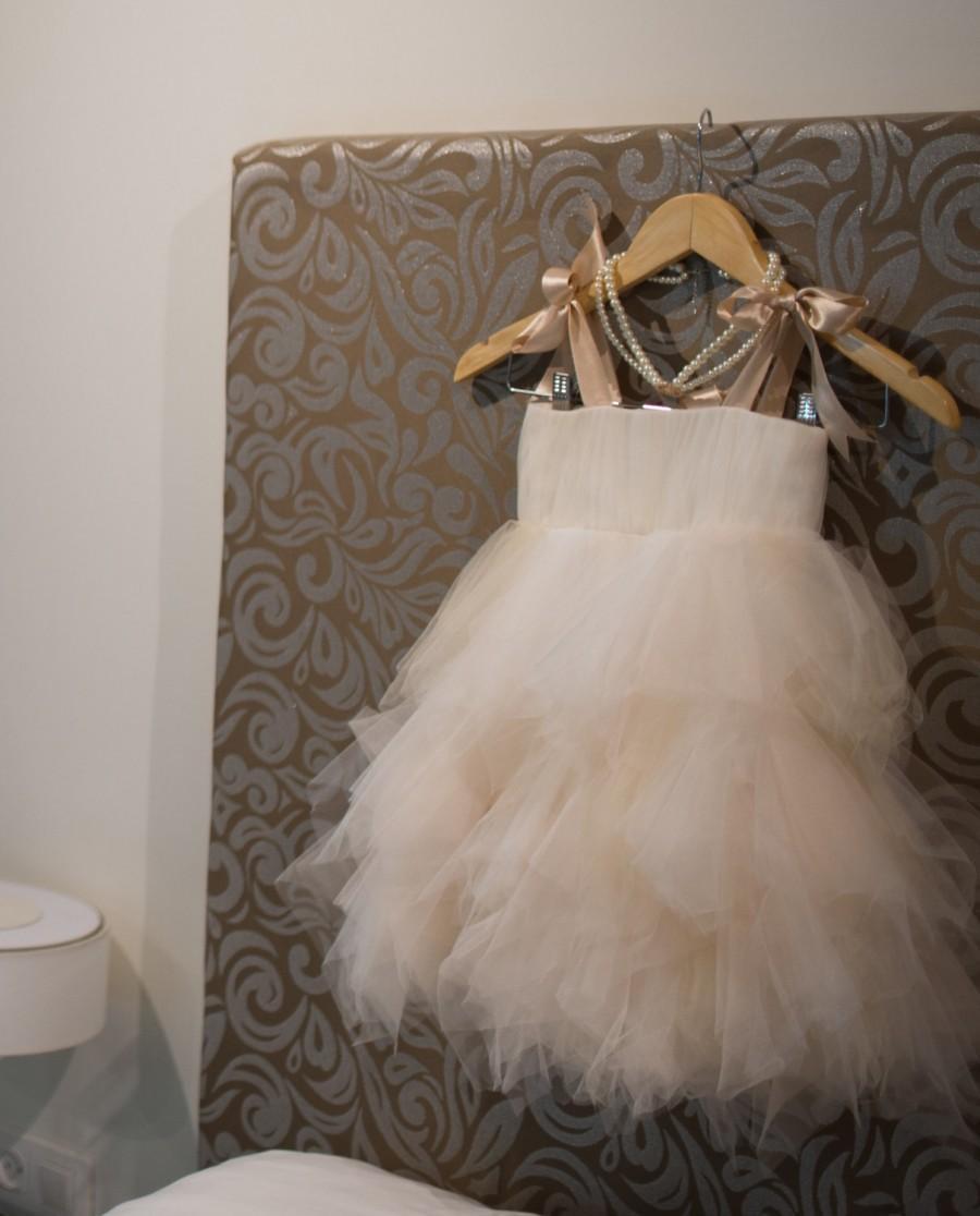 Wedding - Adorable Fairy Flower Girl Dress, bridesmaid dress chiffon, littel girl dress, bridesmaid children , chic wedding flower girl