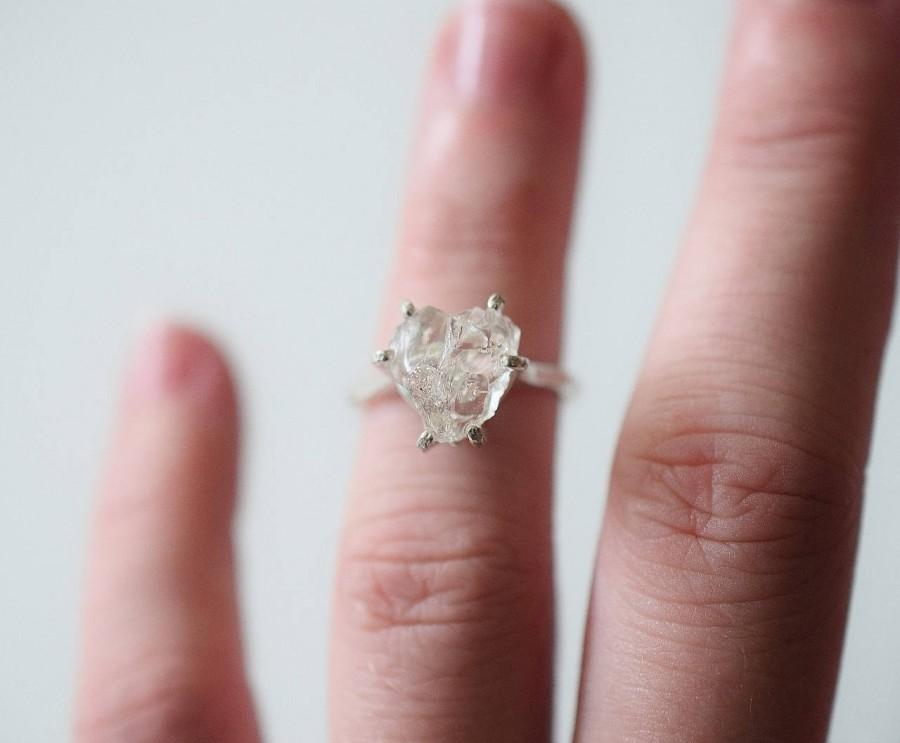 Mariage - Unique Engagement Ring, Uncut Diamond Ring, Rough Diamond Ring, Raw Diamond Engagement Ring, Natural Diamond Ring, Raw Stone Ring, Avello