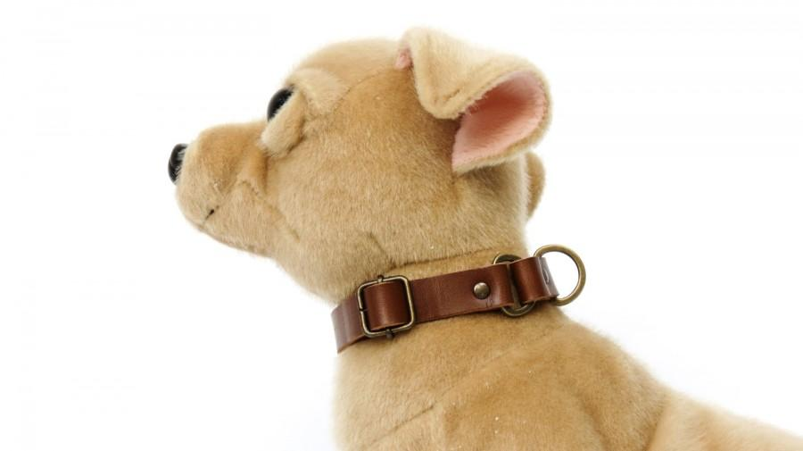 Mariage - Martingale Dog Collar, Dog Collar, Limited Slip Collar humane dog collar Gift for dog gift for pet Brown Leather Collar Greyhound Dog Collar