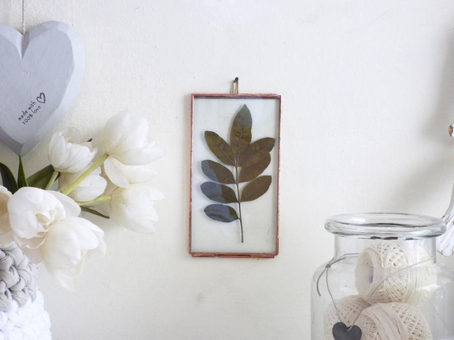Hanging Hinged Double Stained Glass Frame, Photo Display, Pressed ...