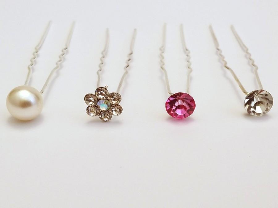 Свадьба - 10x Pearl or Crystal Hair Pins Wedding Bridal Hairpins Accessories, FREE POSTAGE Australia Wide