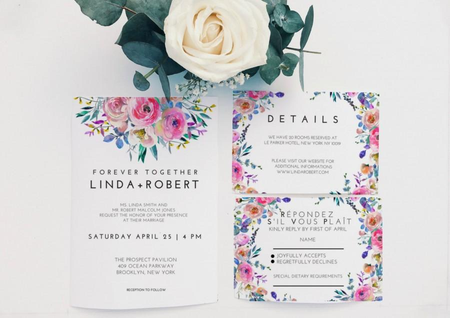 printable wedding invitation suite diy invitation template wedding