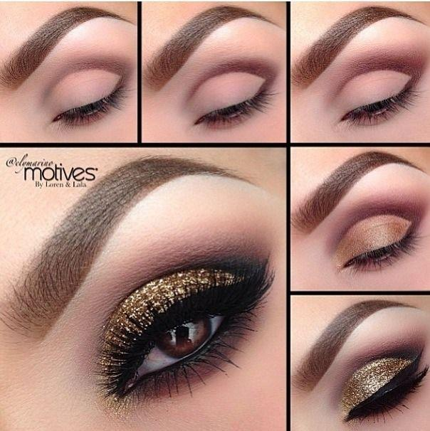 Свадьба - Gold Smokey Eye For All Eye Colors! Please Like And Follow