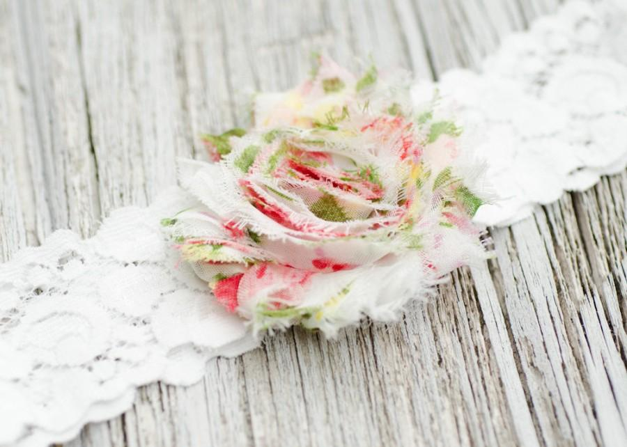 Свадьба - 29 Different Colors Wedding Garter Single White FLORAL Lace Bridal Garder