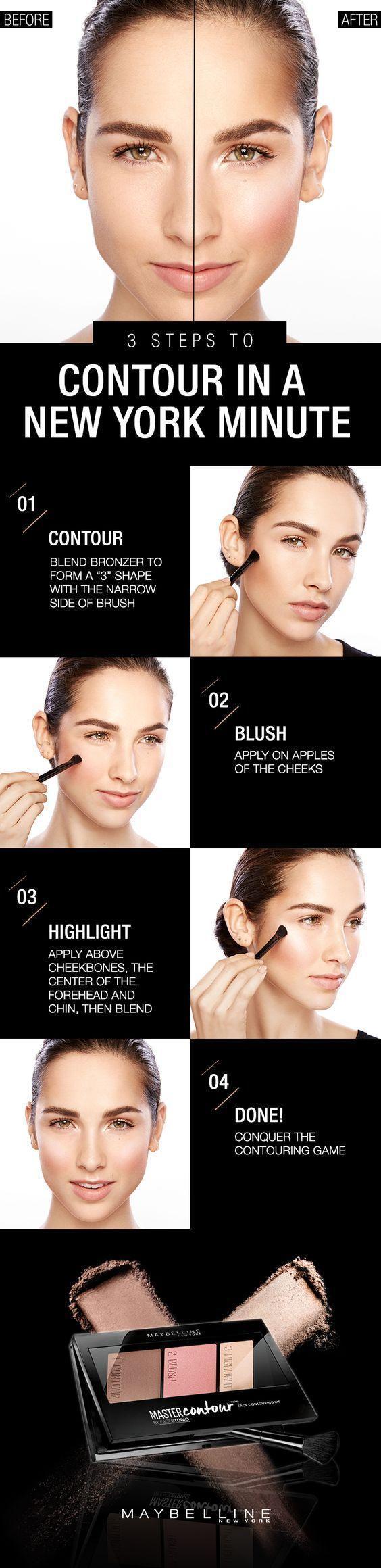 Свадьба - Beauty Basics: Easy Contouring Tutorial For Busy Ladies