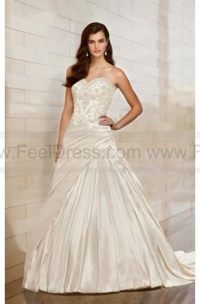 Wedding - Essense Wedding Dress Style D1425 Satin A-Line Strapless
