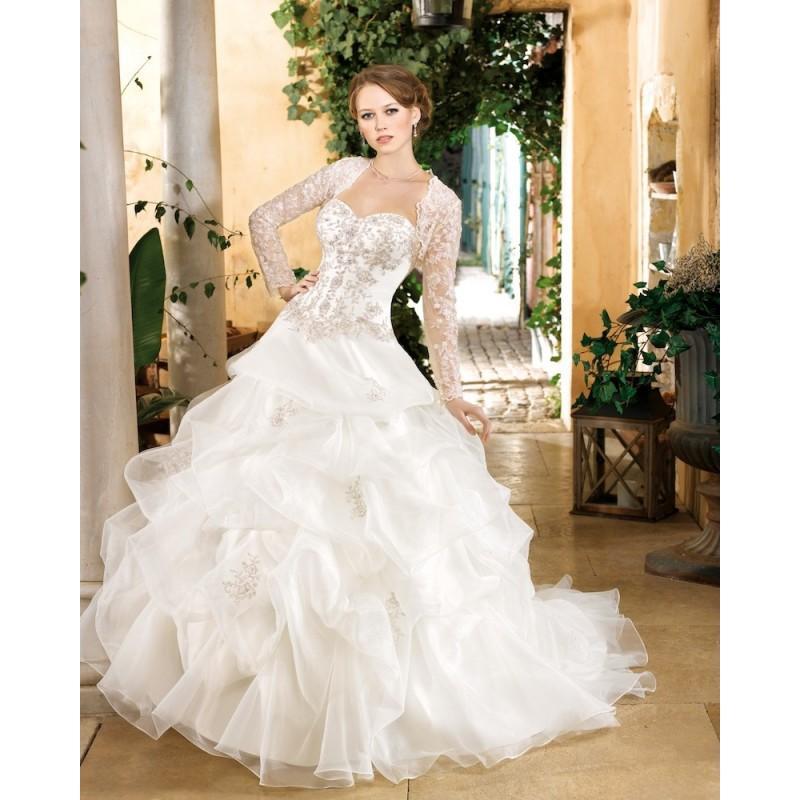 Wedding - Generous Ball Gown Sweetheart Beading Lace Sweep/Brush Train Organza Wedding Dresses - Dressesular.com