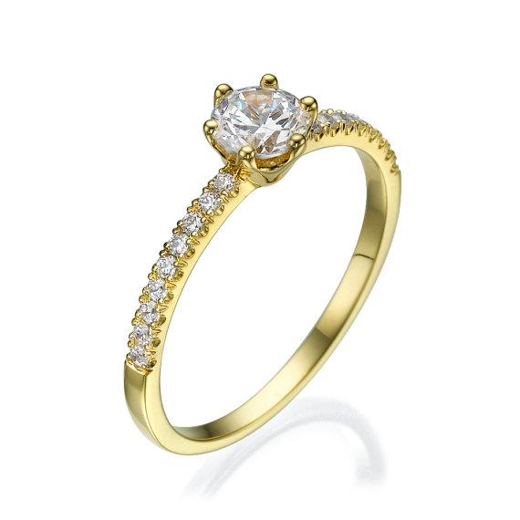 Wedding - Engagement ring - Promise ring - Bridal ring - Diamond ring - Statement ring - Wedding ring - Rose gold ring - 14k gold ring