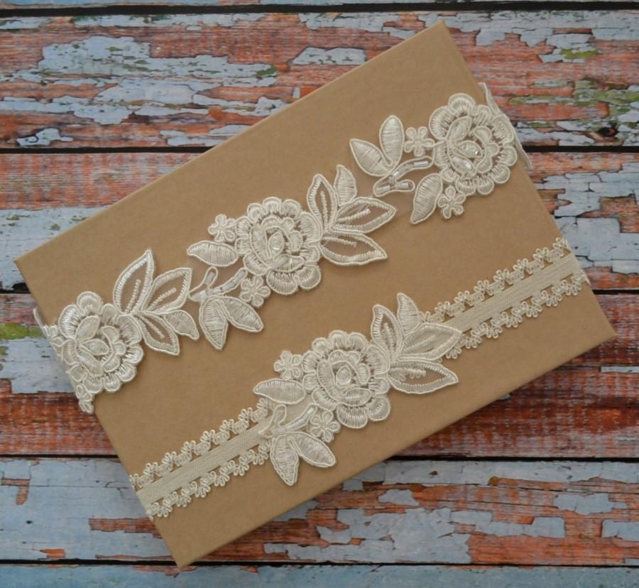 Свадьба - Ivory Wedding Garter, Wedding Garter Set, Bridal Garter Belt, Lace Garter Set, Lace Bridal Garter, Ivory Garter, Beaded Lace Garter,