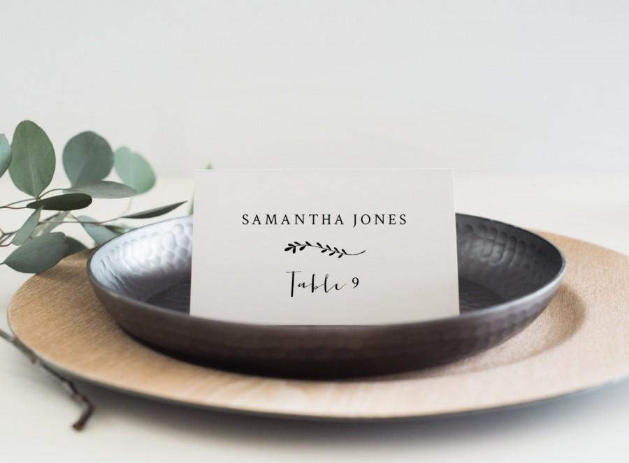 Hochzeit - Instant Download Printable Place Card-Editable PDF-DIY Template-Escort Card-Wedding Name Tag-Printable Wedding Seating Card-#SN001_PC