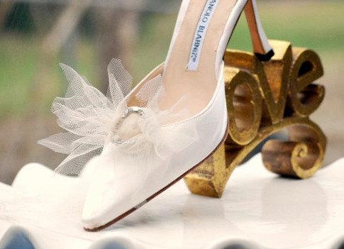 Shoe Clips Set. Ivory White Something Blue Gold Red Navy