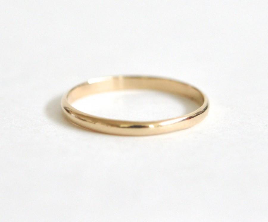 10K Yellow Gold 1.5mm Half Round Band