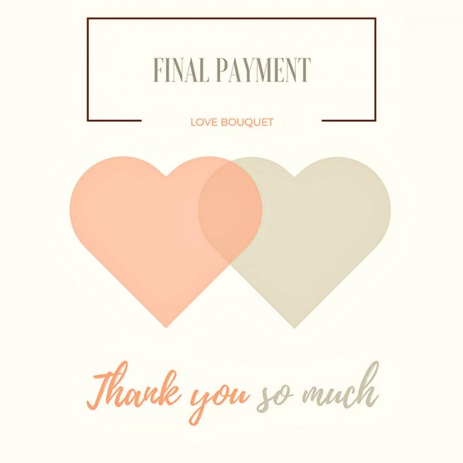 Mariage - FINAL PAYMENT