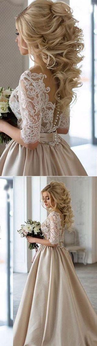 Mariage - Middle Sleeve Prom Dress,Lace Prom