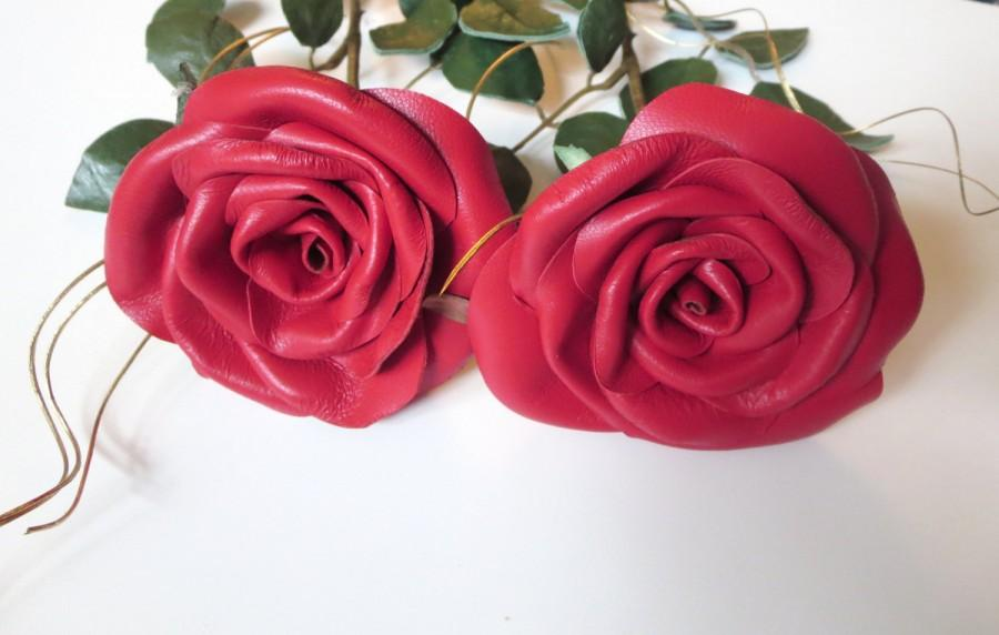 Long Stem Red Rose Symbol Of Love Leather Rose Red Flower Wedding