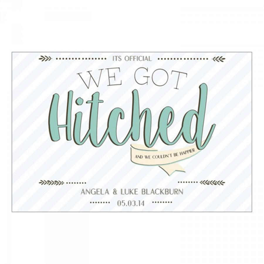 Hochzeit - We Got Hitched - Postcard Elopement Announcement - Elopement Postcard Download - We Eloped  Digital Download - Elopement Party Download