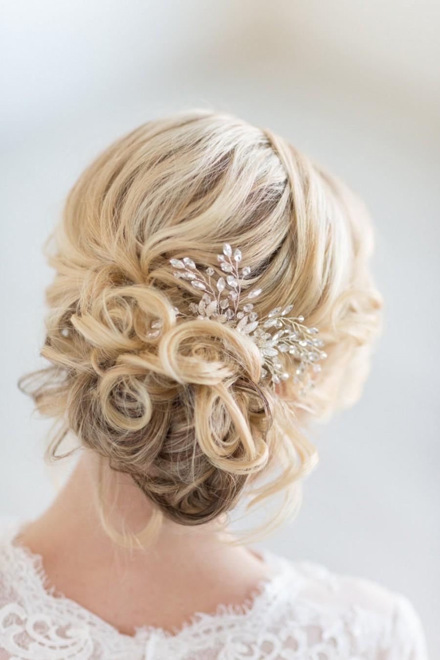 Свадьба - Crystal Bridal Comb, Wedding Hair Accessory,  Bridal Hair Accessory
