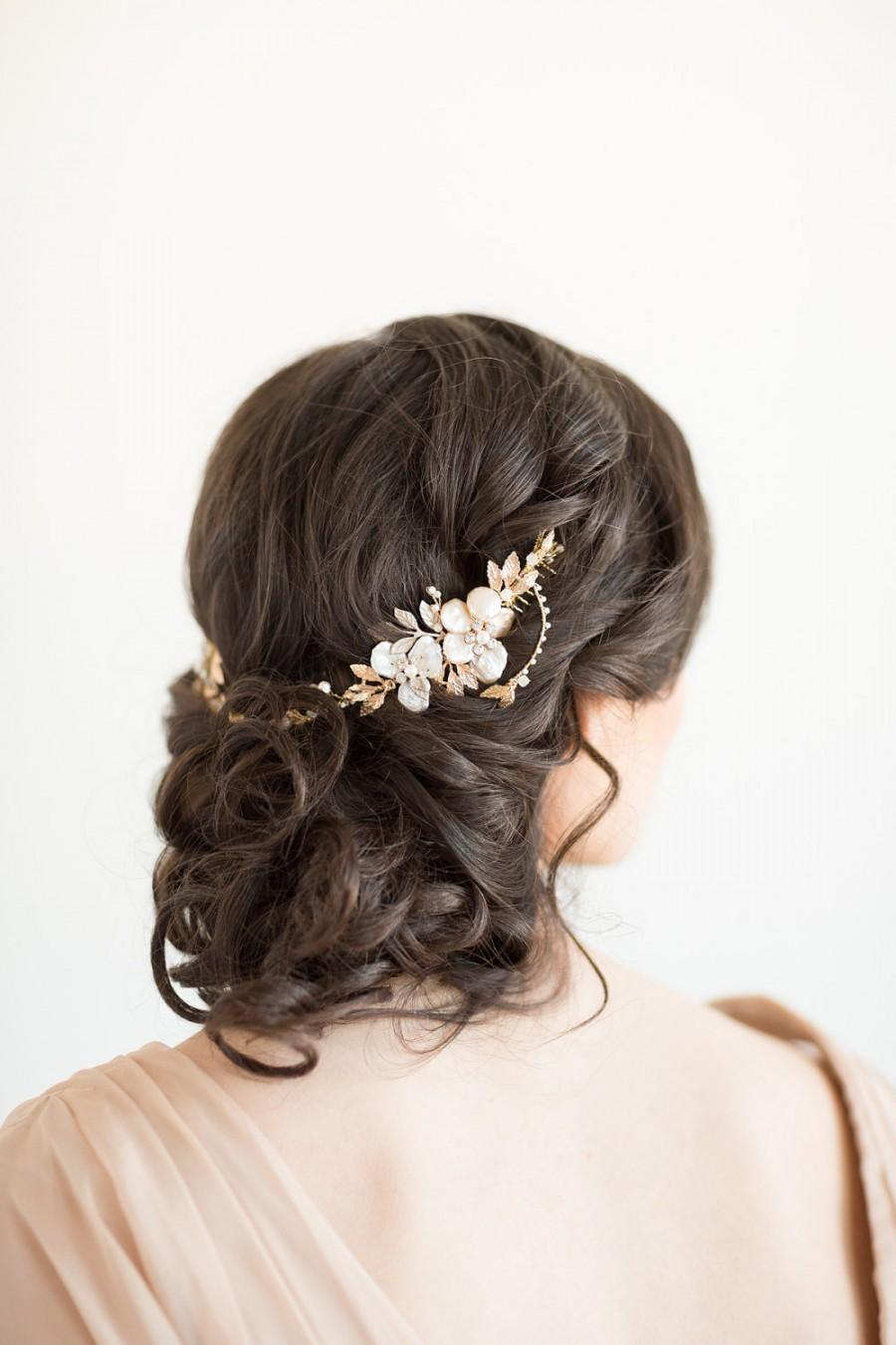 Mariage - Bridal Hair Accessory,  Crystal Hair Swag, Wedding Hair Vine