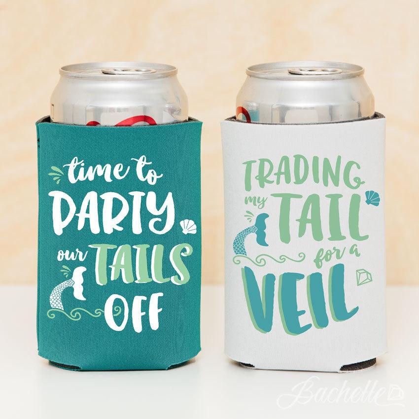 زفاف - Bachelorette Party Mermaid Beer Can Coolers