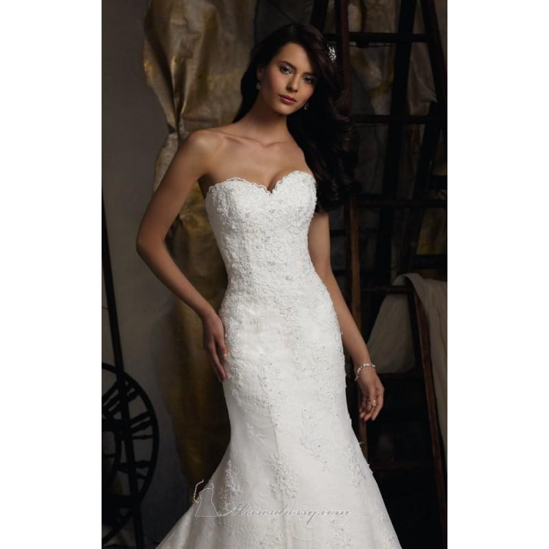 Mariage - 2014 Cheap Strapless Elegant Lace by Blu by Mori Lee 5113 Dress - Cheap Discount Evening Gowns