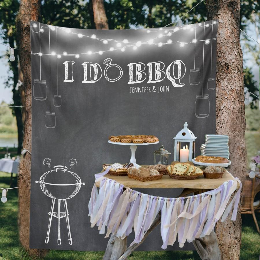 Backyard Wedding Custom Tapestry Party Backdrop Dessert Table Decor Wall I DO BBQ W G20 TP MAR1 AA3