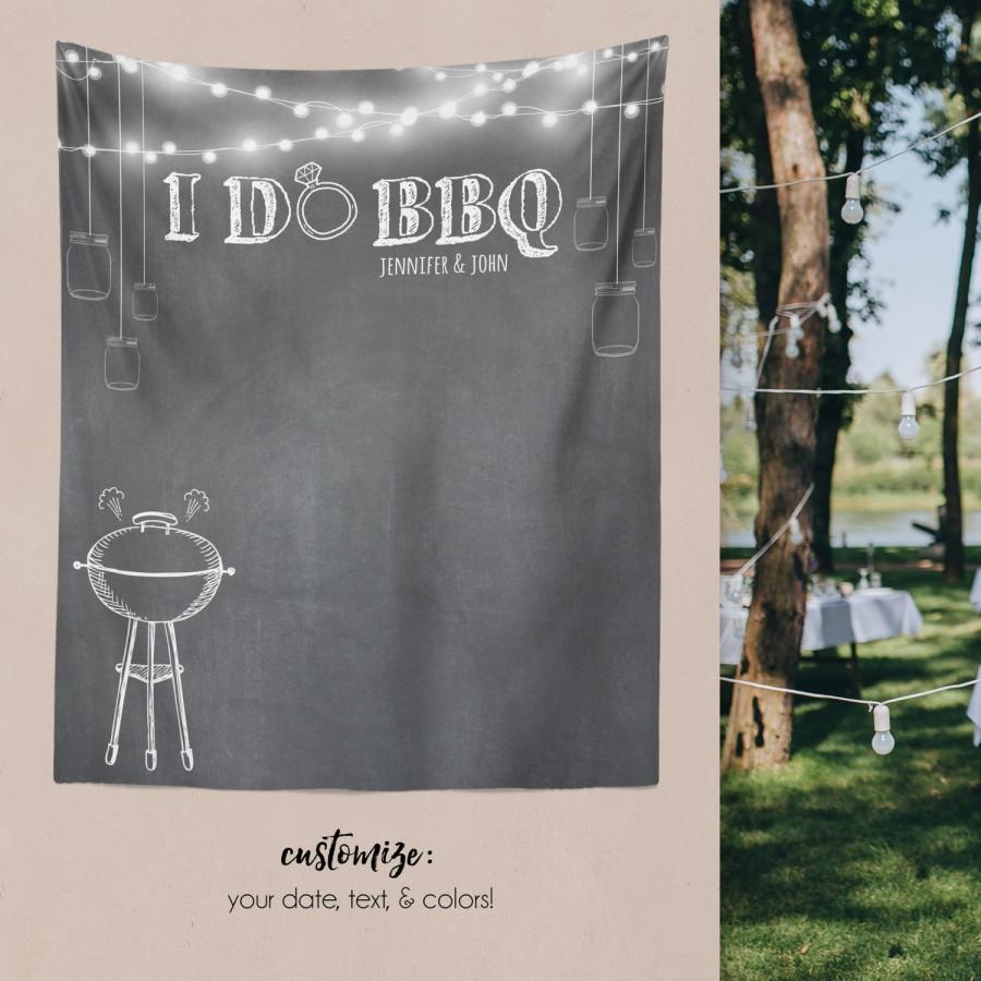 custom tapestry party backdrop backyard wedding dessert table