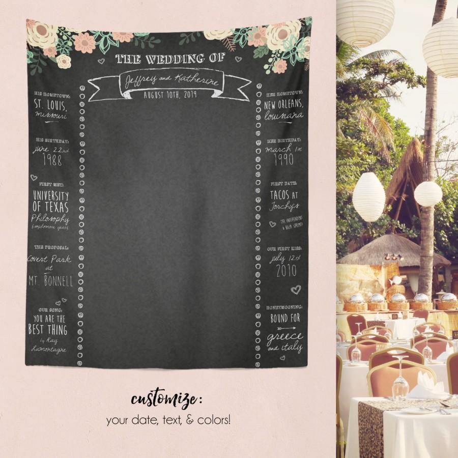 Mariage - Rustic Wedding Chalkboard, Custom Wedding Banner, Rustic Wedding Decor, Custom Bridal Photo Booth, Bridal Shower Chalk / W-G26-TP REG1 HH7