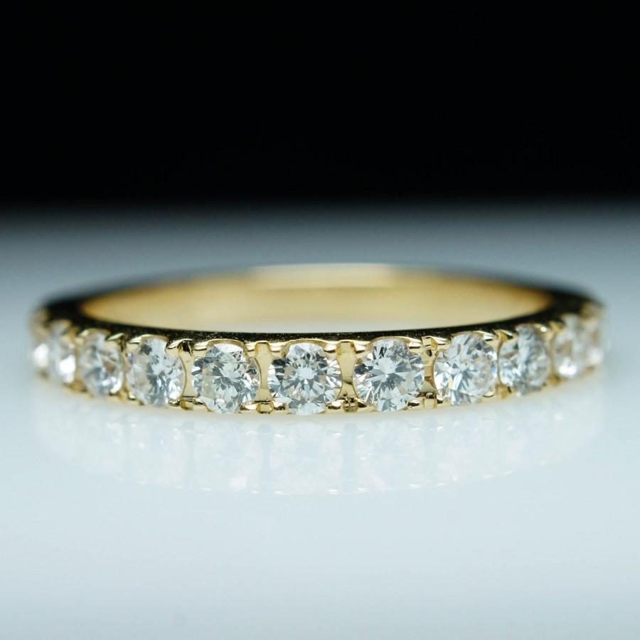 Mariage - Yellow Gold Diamond Wedding Band - .75CTW - Free Sizing - Layaway Available - Engagement Ring Matching Gold Wedding Band
