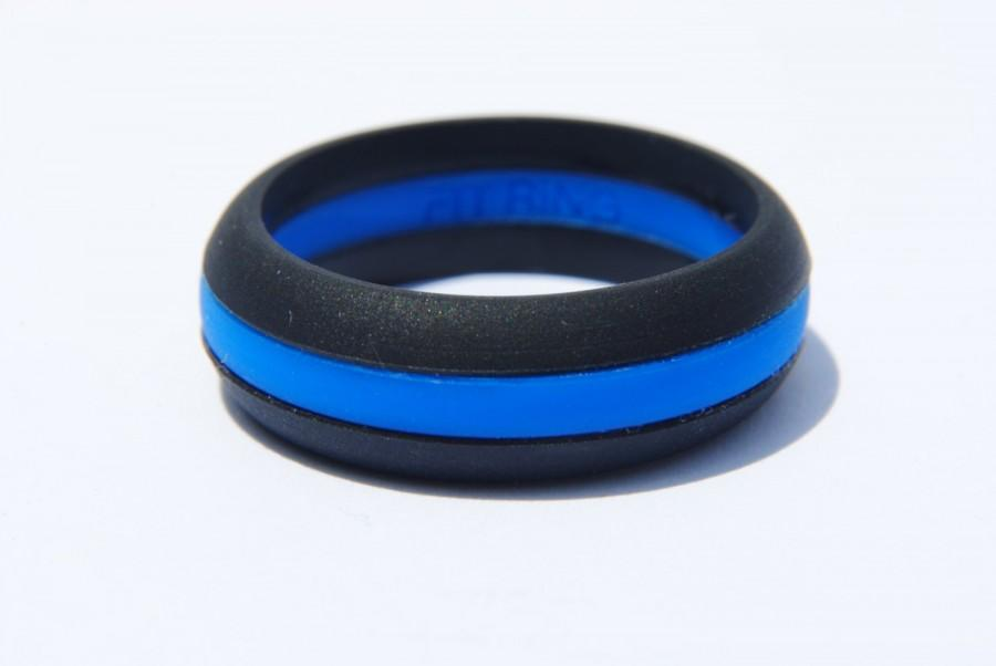 bands blue new law collection line ring wedding of rings thin enforcement