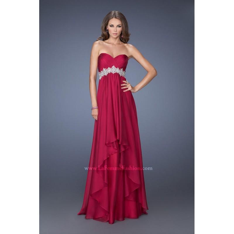 Wedding - La Femme 19744 Cranberry,Apricot,Black,Ice Purple,Light Mint,Midnight Blue,Nude Dress - The Unique Prom Store