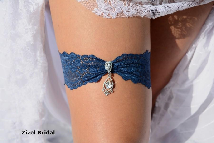 Wedding - Garter Set, Wedding Garters, Blue Garter Belt, Wedding Garter Teal, Wedding Gift, Teal Lace Garter, Crystal Rhinestone,  Teal Garter Set