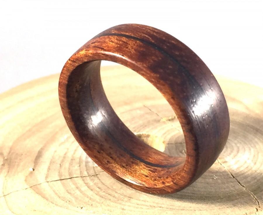 زفاف - Mens Ring, Wooden Ring, Mens Wood Ring, Koa wood ring, Wood Wedding Band, Mens Wedding band, wood jewelry, Hawaiian wood ring, wood wedding