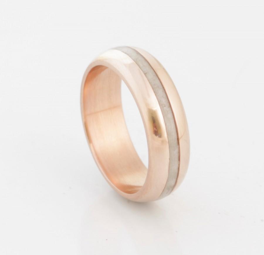 زفاف - Antler Wedding Band copper wedding ring antler ring mens wedding band woman ring