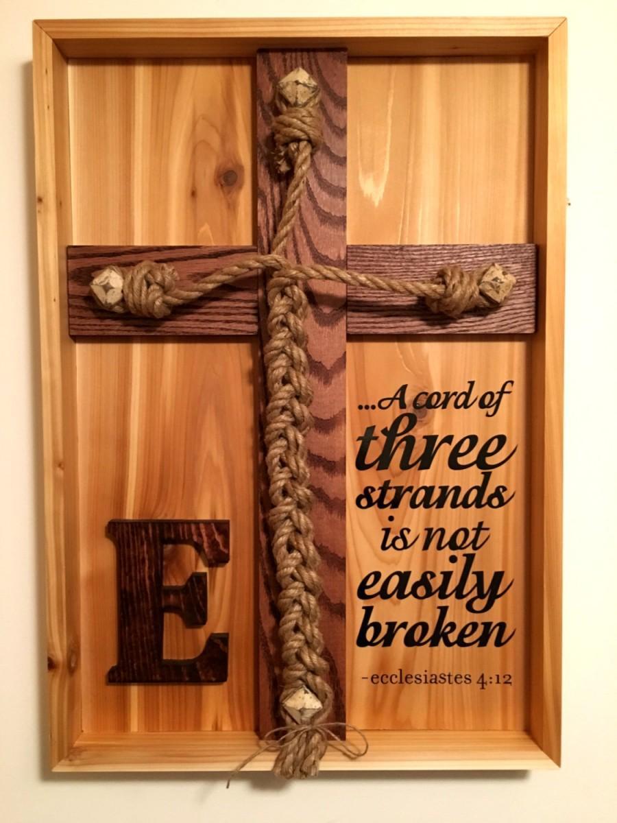Mariage - Wedding Unity Ceremony - Braid (Natural Western Cedar) w/Ecclesiastes 4:12 scripture
