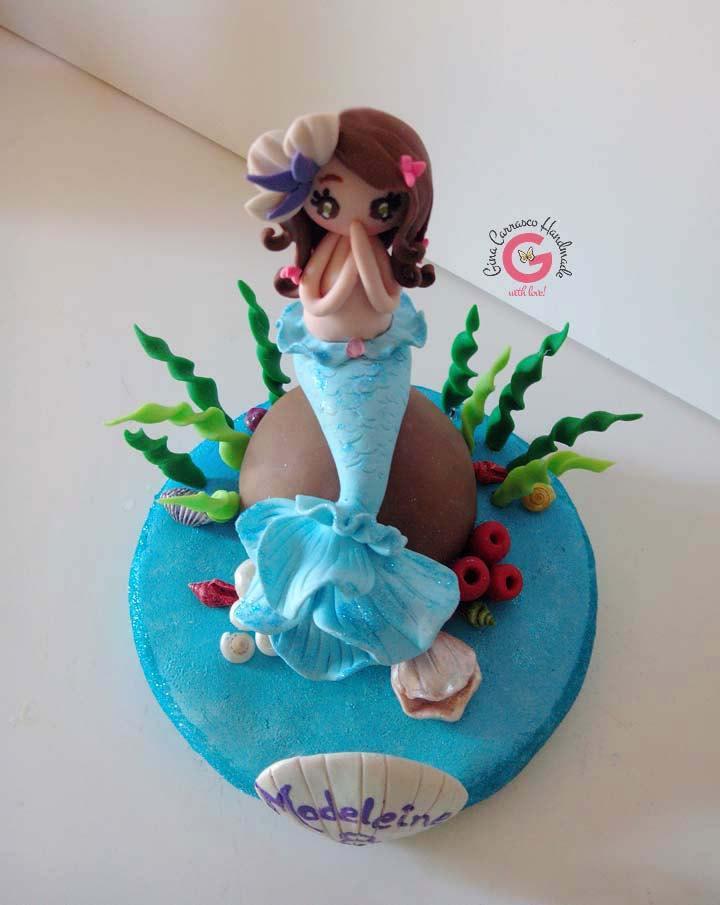 Mermaid Cake Topper Mermaid Theme Party Girl Keepsake Cake Topper
