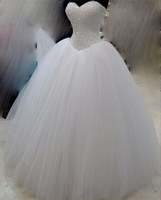 Boda - no sleeves crystal wedding dress princess wedding dress diamond