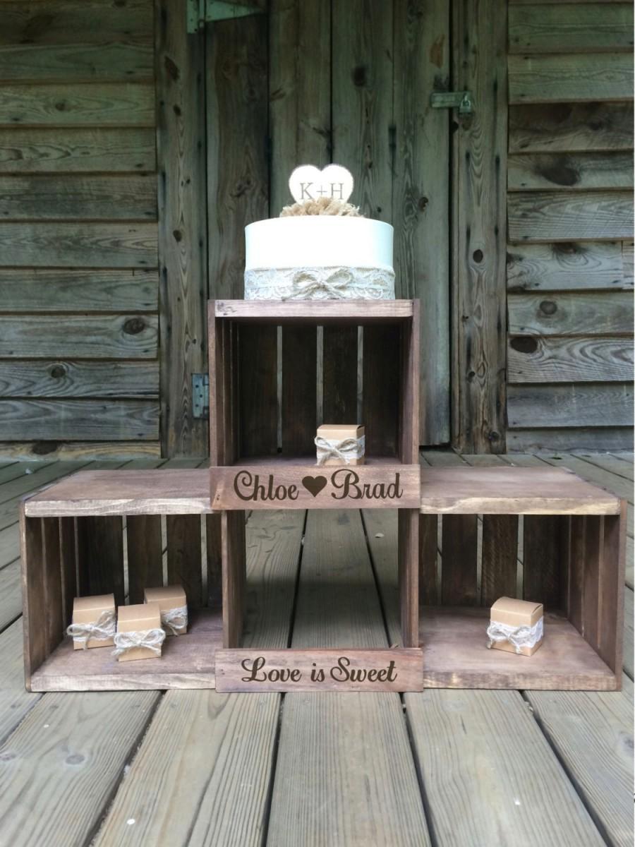 Rustic Wedding Cupcake Stand Crate Cupcake Stand Wood Cupcake