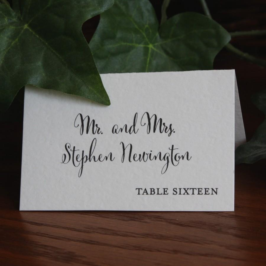 Свадьба - Wedding Place Cards, Escort Cards Weddings, Rustic Place Cards, Folded place cards, Printed Place Cards