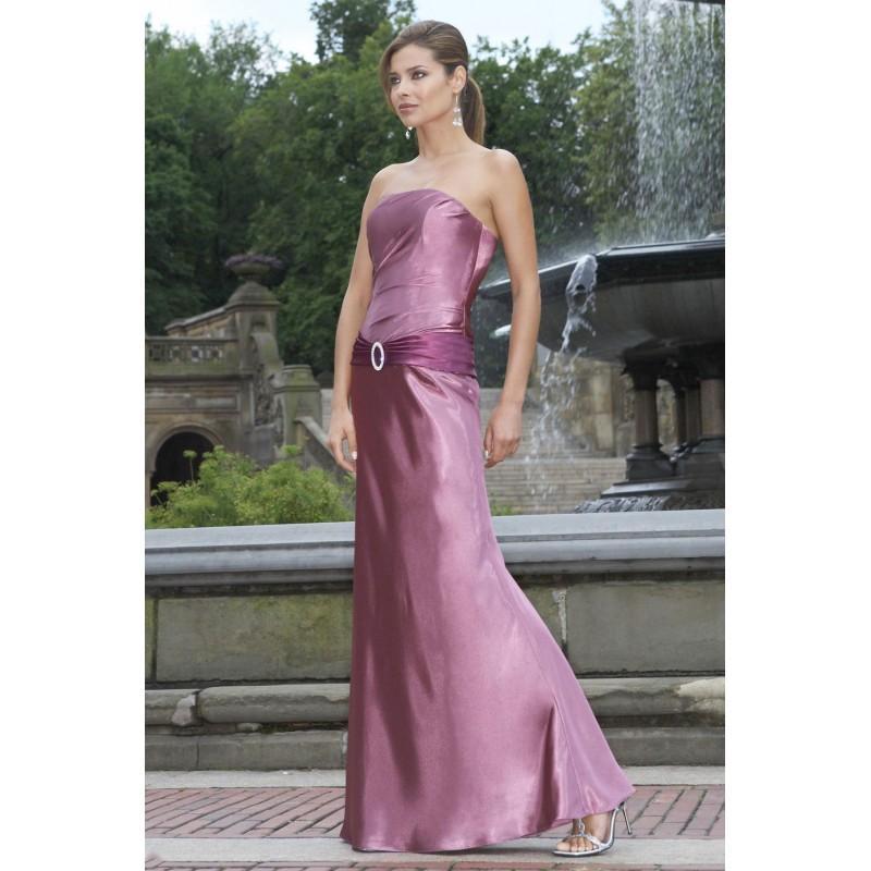 Wedding - Charming Sheath/Column Strapless Ruching Floor-length Stretch Satin Bridesmaid Dresses - Dressesular.com