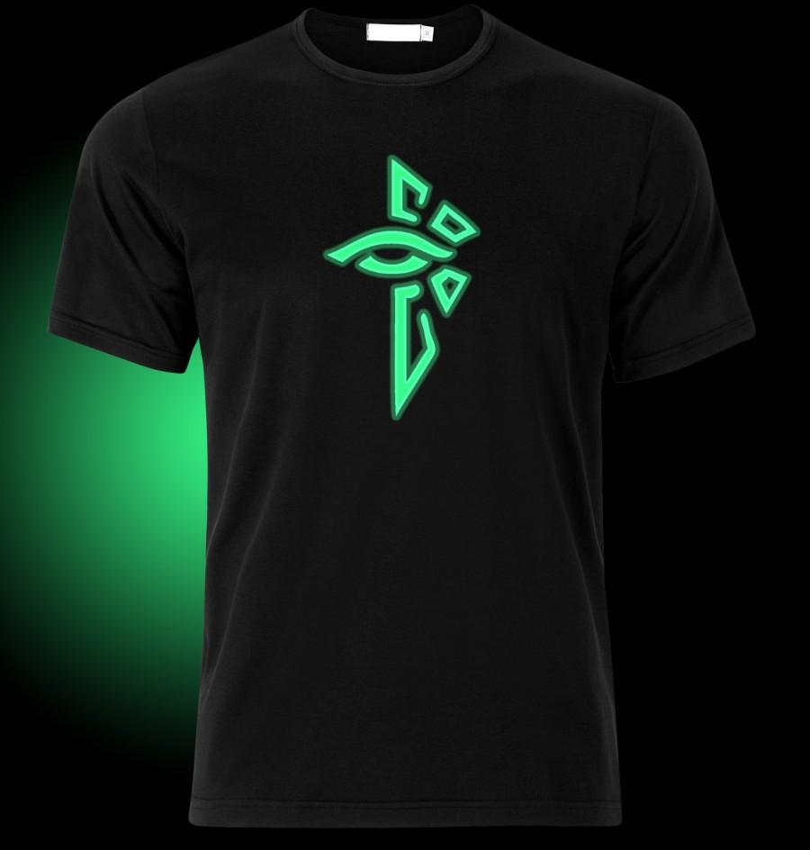 Mariage - GLOW in the DARK Ingress Enlightened Logo T-Shirt - available in many sizes and colors