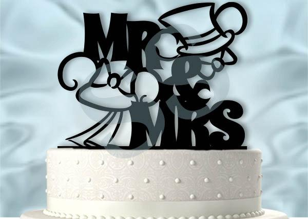 Свадьба - Mr and Mrs Mickey and Minnie Wedding Cake Topper