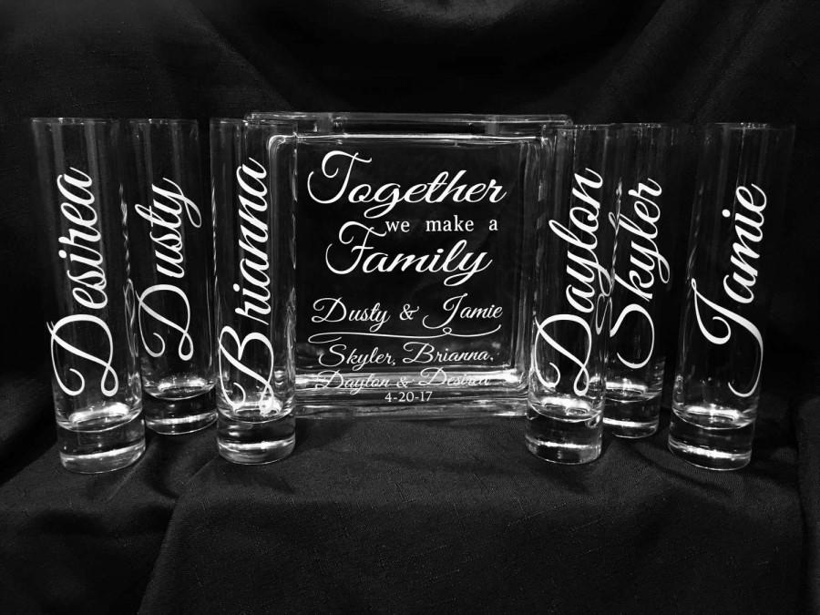 Family Blended Unity Sand Ceremony Glass Containers