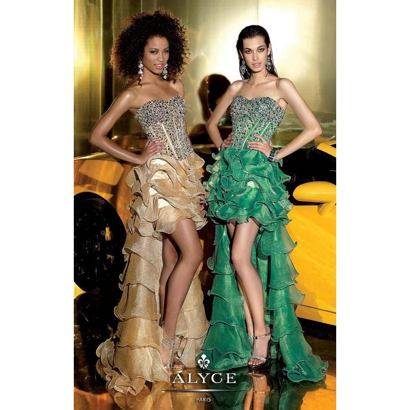 Свадьба - Champagne Alyce Paris 6012 - High-low Dress - Customize Your Prom Dress