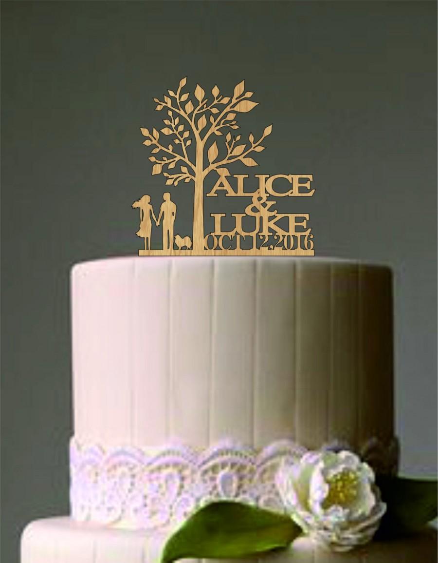 Свадьба - Personalized custom wedding cake topper, Rustic cake topper, Unique wedding cake topper, Bride and Groom wedding cake topper, finally
