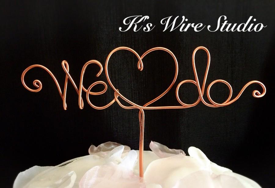 Свадьба - A Wedding Cake Topper, A Wire Cake Topper, We Do Cake Topper's, Bridal Cake Decorations, Wire Cake Decorations, Wire Cake Topper